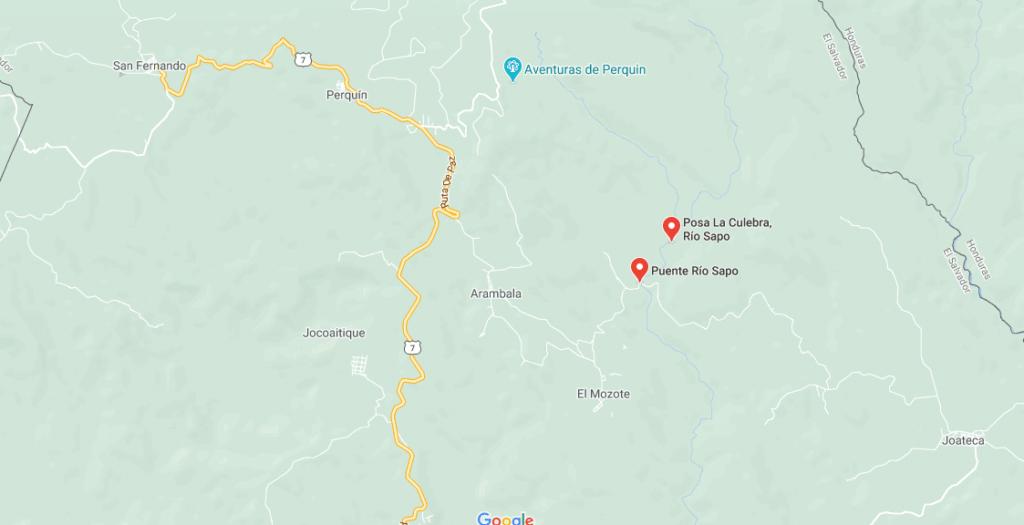 Rio Sapo El Salvador mapa