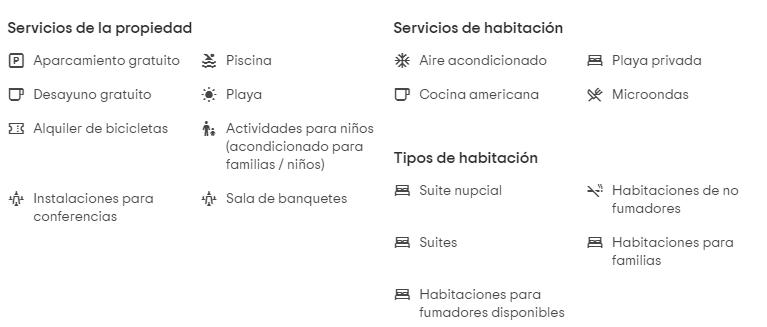 Hotel Bahía del Sol características